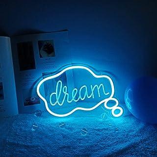 DEWUFAFA Dream LED Néon Blue Blue Dream Panneau Mural, utilisé pour l'éclairage Cool, l'art Mural, la décoration de la Cha...