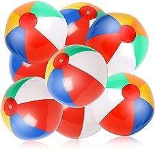 Skrtuan 10 Pack Inflatable Beach Balls, 12