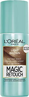 L'Oréal Paris Magic Retouch Temporary Root Concealer Spray - Light Brown (Instant Grey Hair Coverage)