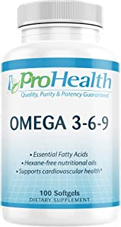 ProHealth Omega 3-6-9 (100 Large softgels)