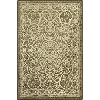 Maples Rugs Pelham Vintage Area Rugs for Living Room & Bedroom [Made in USA], 7 x 10, Khaki