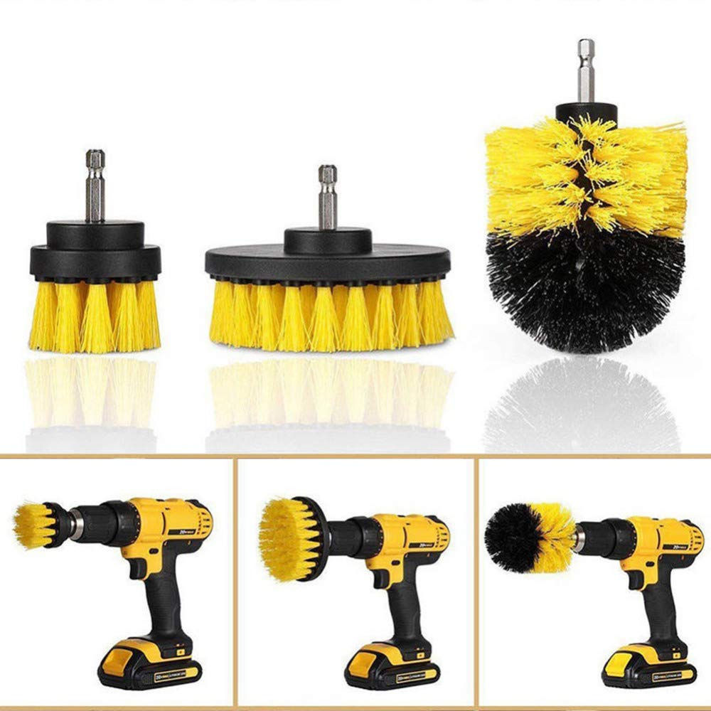 Cheap Best Quality - Brush - 3pcs/set Power Scrubber Brush Set for Bathroom Drill Scrubber Brush for Cleaning Cordless Drill Attachment Kit Power Scrub Brush - by SeedWorld - 1 PCs Black Friday & Cyber Monday 2019