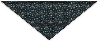 Logic Theory Honeycomb Periodic Table Blue Pet Scarf Dog Cat Bandana Collars Triangle Neckerchief