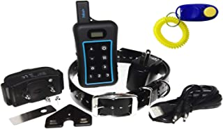 Pet Resolve Dog Training Collar with Remote - Trains 3 Dogs if Extra Collars Purchased - Removable Shock, Vibration and Beep Modes - Large, Medium and Small Dogs over 15 lbs - Up to 3/4 Mile Range - Waterproof Electric E Collar - Warranty Included