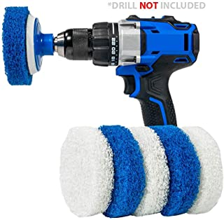 RotoScrub 7 Pack Multi-Purpose Drill Brush Kit for Cleaning Bathrooms, Showers, Tubs,..