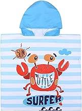 Xplanet Toddler Unicorn Hooded Beach Towel, Multi-use for Hooded Poncho Swim Beach Pool Poncho Bath Towel, Home Bath Robe for Kids Child 2-7 Years Boy&Girls (Blue Alligator)