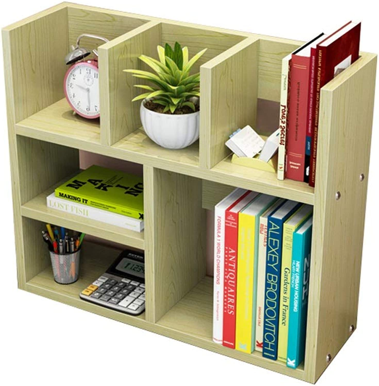 YAXIAO Desktop Bookshelf Simple White Maple Books Grocery Storage Rack Desk Dormitory Bookcase 60x20x50cm Bookshelf (Size   S)