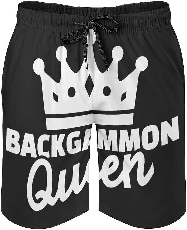 Board Game Backgammon Men's Summer Quick Dry Swim Trunks Casual Board Shorts Beachwear for Boys Men