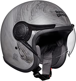 Royal Enfield Matt Grey Open Face with Visor Helmet Size (XL)62 CM (RRGHEH000027)