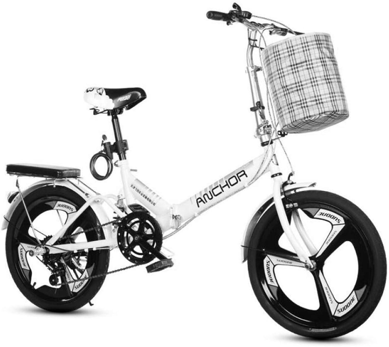 AOHMG Foldable Bike Lightweight Folding Bike, 7Speed City Folding Bicycle Adjustable Seat