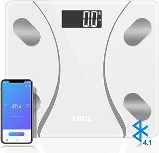 体重計 体組成計 体脂肪計 基礎代謝量/内臓脂肪レベル/筋肉量/推定骨量/体水分率/測定可能 ボディスケール スマートスケール Bluetoothスマホ連動 対応 iOS/Androidアプリで健康管理 ヘルスケア同期 (日本語対応APP&取扱説明書)