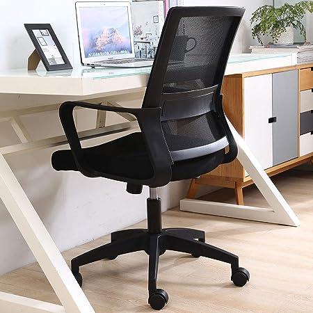 オフィスチェア 人間工学椅子 デスクチェア パソコンチェア ワークチェア 事務用椅子 昇降機能付き ランバーサポート メッシュ 通気性 ロッキング機能 (Black)