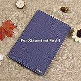 Estuche Ultra Delgado de Cuero de la PU para Xiaomi MiPad 1 2 3 MiPad1 MiPad2 MiPad3 Funda Dura de la PC Dura Liviana para Xiaomi MiPad 1-para mi Pad 1 Azul