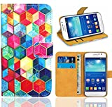Samsung Galaxy Grand Neo / Grand Neo Plus Handy Tasche, FoneExpert® Wallet Hülle Flip Cover Hüllen Etui Ledertasche Lederhülle Premium Schutzhülle für Samsung Galaxy Grand Neo / Grand Neo Plus (Pattern 2)