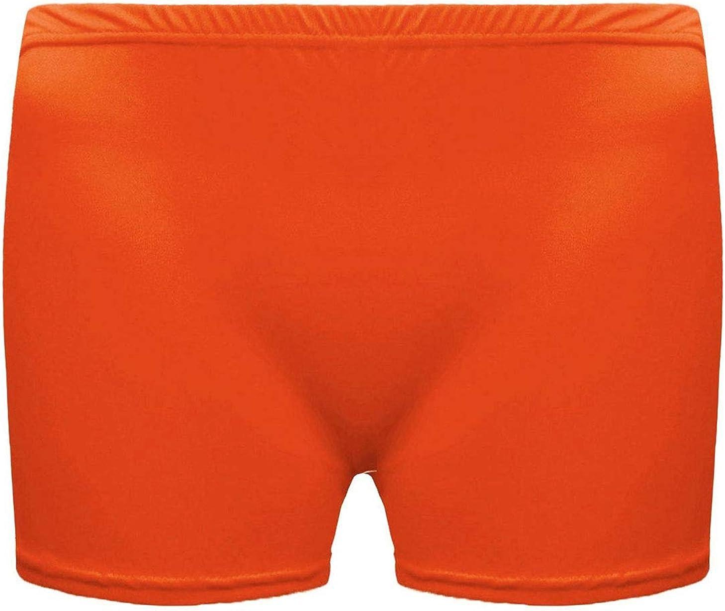 21Fashion Womens Ladies Gymnastics Gym Lycra Cotton Dance Shorts Childrens Girls Stretch Neon Hot Pants