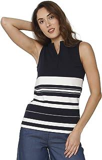 VERO MODA Women's Striped Regular fit T-Shirt