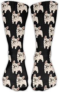 Bulldog francés Unisex Novedad Crew Calcetines Vestido de tobillo Calcetines Se adapta al zapato