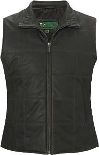 HIDEPARK L061: Women's Brown Leather Gilet