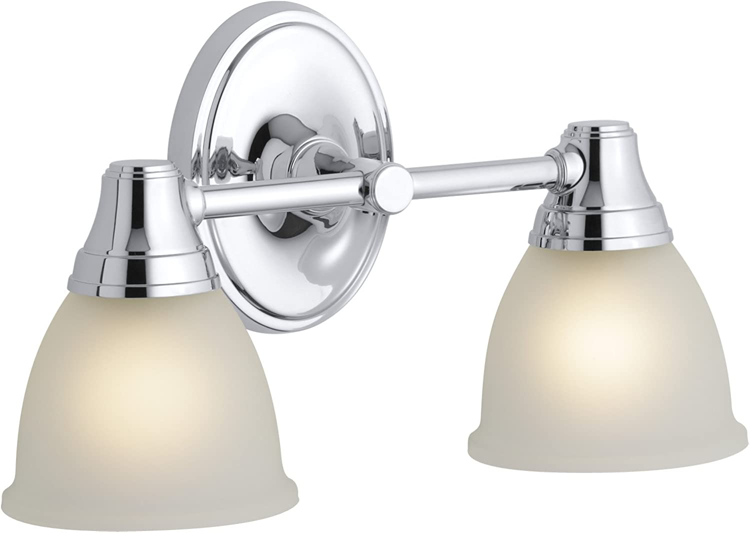 KOHLER K-11366-CP Forté Transitional Double Wall Sconce, Polished Chrome