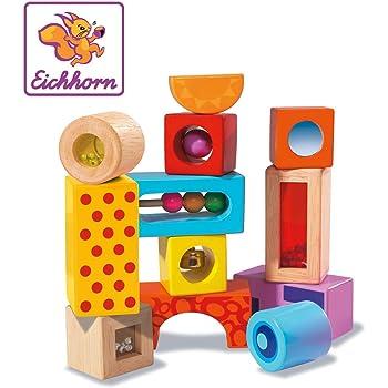 JERKKY Rainbow Acrylique Bois Blocs de Construction Bébé Jouet Éducatif Jouet Montessori Enfants Jouet
