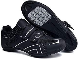 tangjiu Non-slip Cycling Shoes, Breathable Carbon Fiber Road and Mountain Bike Shoes, Assisted Sports Shoes with Reflectiv...