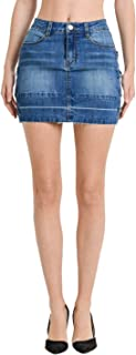 Love Moda Women's Fashion Denim Mini Skirts with Spandex in Mulitple Styles