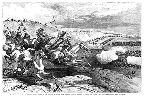 Great Sioux War 1876 Nsioux Warriors Charging Colonel William RoyallS Cavalry At The Battle Of Rosebud Creek During The Great Sioux War 17 June 1876 Contemporary Engraving After A Sketch By Charles St -  Granger Collection, GRC0268075