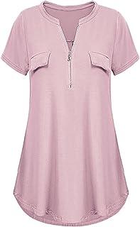 f2c8ae21 YOcheerful Women Shirt Long Sleeve Tunic Tops Casual Plus Size T-Shirt  Blouse Tee Polo