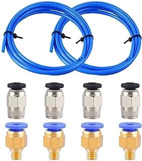 Sovol Authentisch Capricorn Bowden PTFE Schlauch Blau Teflonschlauch XS 1,2 Meter mit PC4-M6 Pneumatik-anschlussst/ücke und PC4-M10 Verbinder f/ür 3D-Drucker 1,75 mm Filament
