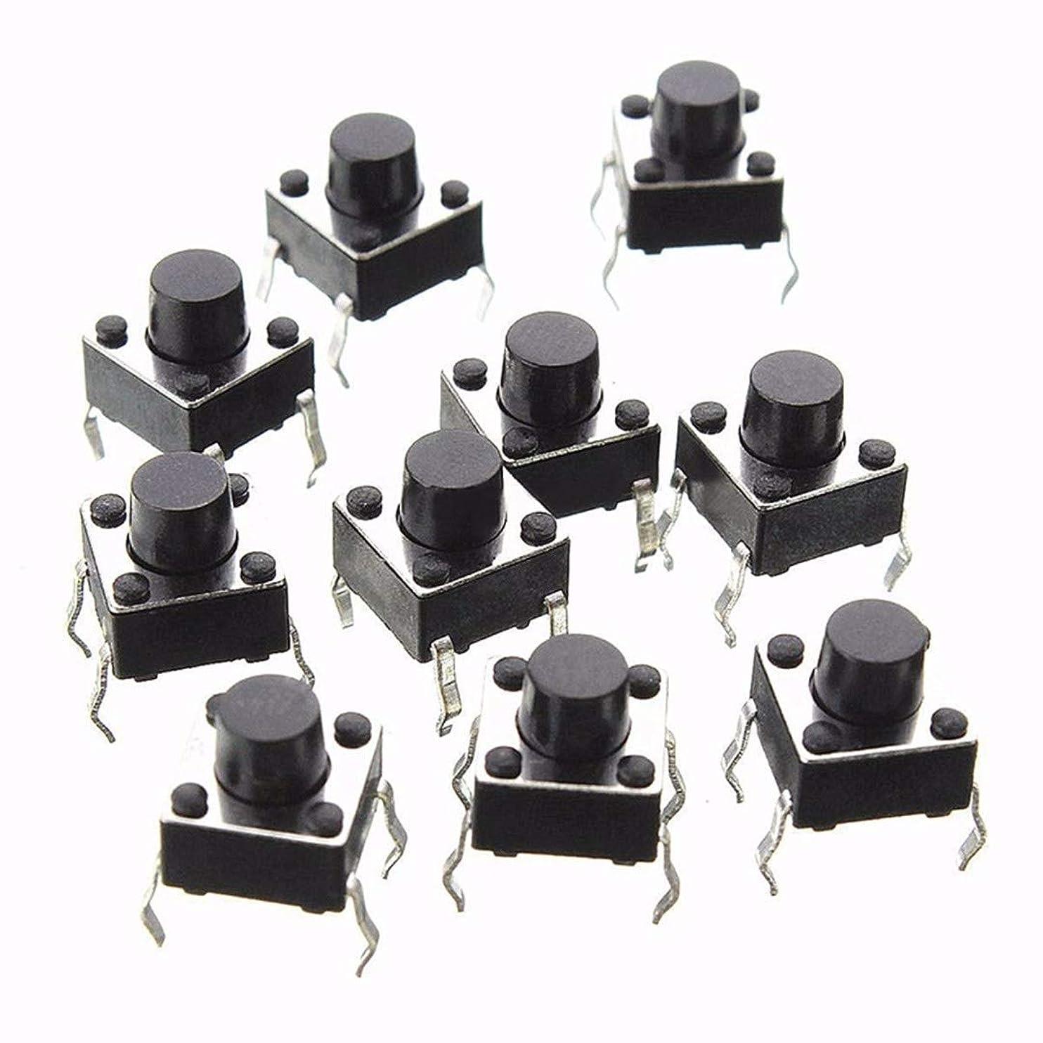 ポーチ静けさ静けさ200pcsの10バリューTM触覚プッシュボタンスイッチマイクロモメンタリタクトスイッチ盛り合わせセットでプラスチックボックス (色 : As show)
