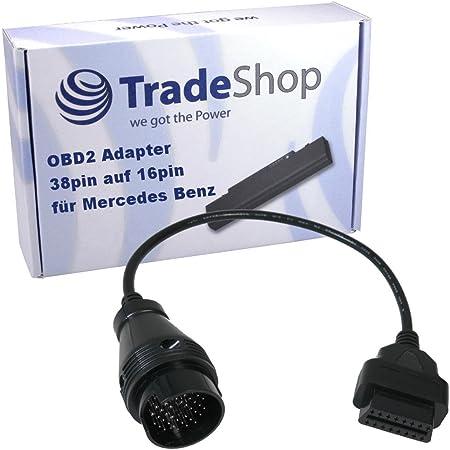 kkmoon Kabel des Schalterprogramm f/ür Auto 38Pin zu 16pin OBD 2 Kabel