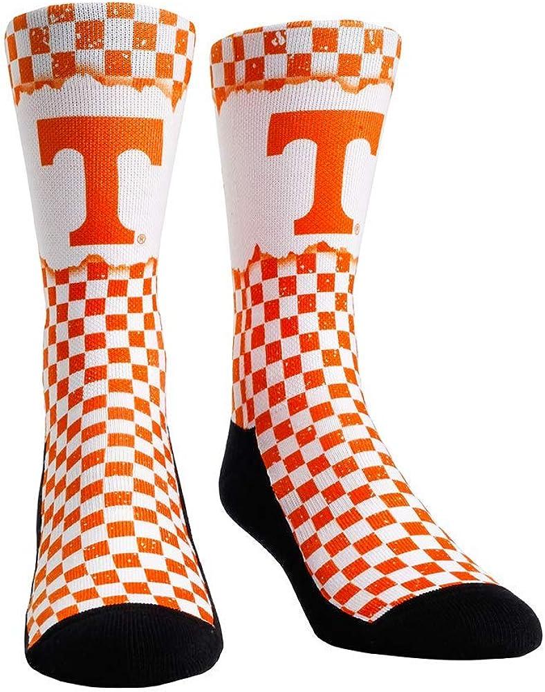 Rock Em NCAA Tennessee Volunteers Checkerboard Crew Socks
