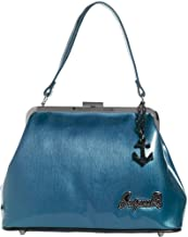 Sourpuss Brand - Blue Betsy Purse with Black Anchor Charm, 12