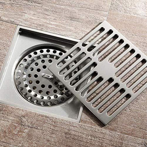 Badkamer Afvoer Messing Vierkante Douche Afvoerputje Trap Afval Rooster met Haarzeefje Anti Stinkende Afvoer 10Cm * 10Cm
