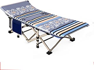 Loungers Outdoor Folding Bed Single Bed Siesta Bed Simple Cloth Bed Camping Bed accompanying Bed (Color : Gray, Size : 190 * 67 * 35cm)