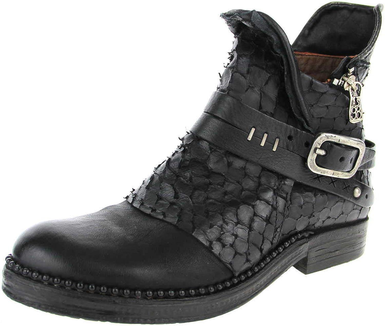 A.S.98 Damen Stiefeletten Hochwertiger Stiefel 250201schwarz+schwarz schwarz 544137