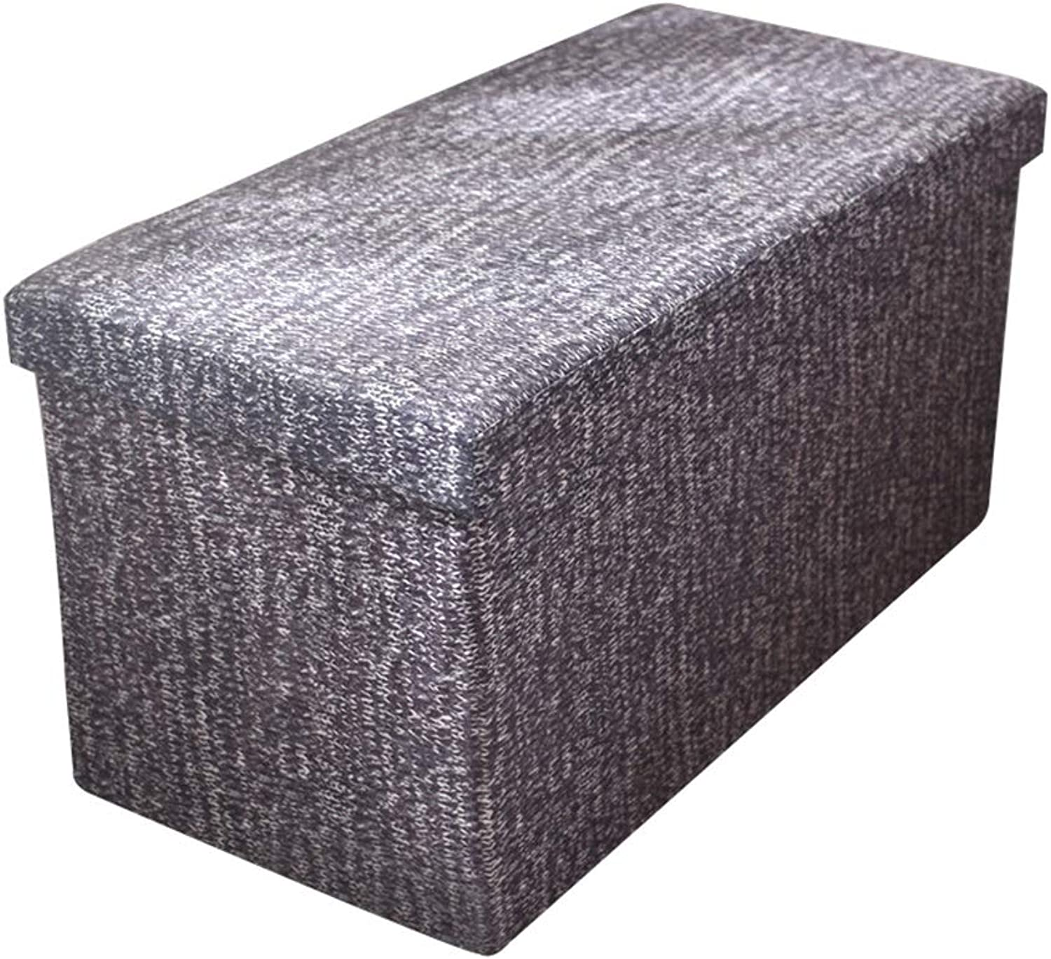 Foldable Storage Stool for Living Room Sofa Big Capacity Multifunction Footstools Can Bear 200KG (color   B)