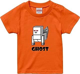 [Chara Park] ハロウィン ゴースト モンスター プリントTシャツ キッズ 100 120 グレー ホワイト サンドカーキ オレンジ