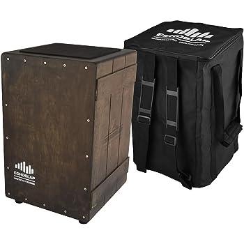 Echoslap Vintage Crate Cajon -Vintage Dark, Hand Crafted, Siam Oak Body, Maple Front Plus Gig Bag