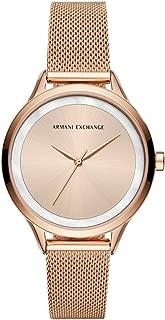 Armani Exchange Women's AX5602 Analog Quartz Rose Gold Watch