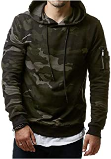 Howme-Men Camo Hoodie Relaxed-Fit Classic-Fit Pullover Shirts Top
