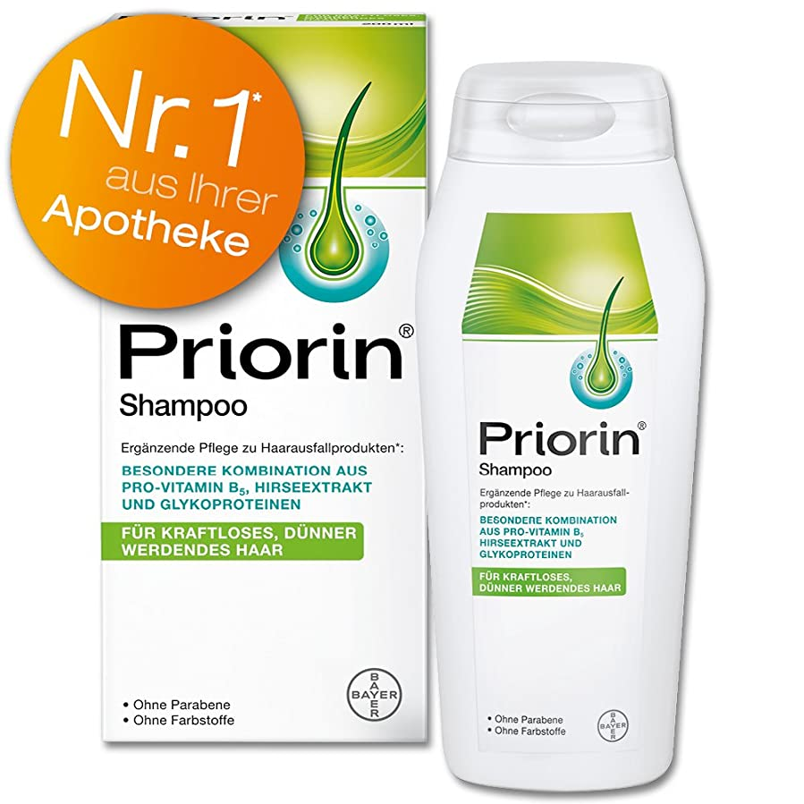 勢い絶えずパーティションPriorin Anti Hair Loss Revitalising Shampoo - with Natural Herbal Millet Extract & Provitamin B5 - 200 ml by Priorin