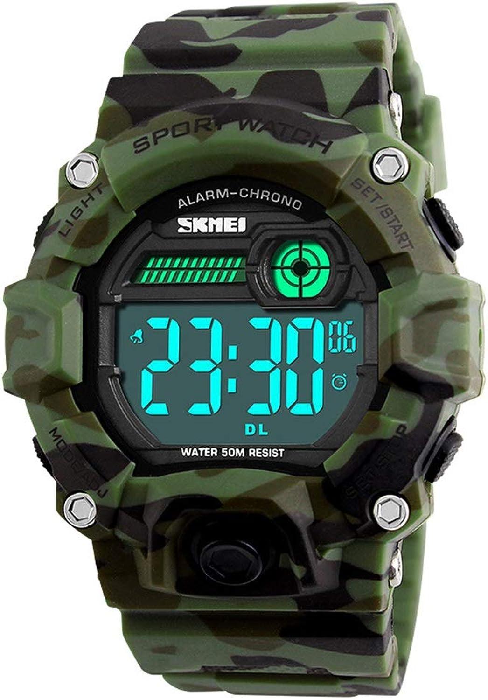 Outdoor Mountaineering Multi-Function Sports Watch Fashion Men's Waterproof Luminous Electronic Watch Comfortable