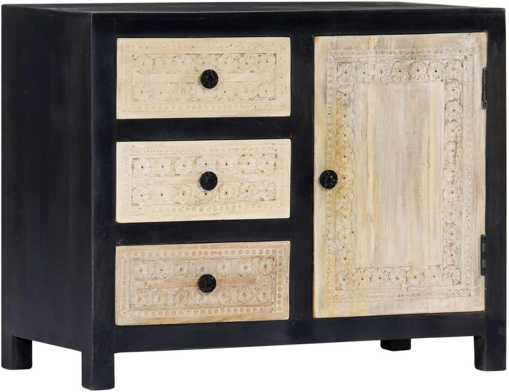 Hand Carved Side Cabinet Decorative Kitc Wall for Wooden half Purchase