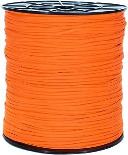 PARACORD PLANET 1000 Foot Spool Neon Orange Parachute Cord 7-Strand Core 550 Cord