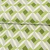 Gobelin Stoff Rautenmuster grün natur Bezugsstoff Taschen