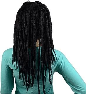 IMOSA Premade Synthetic Cosplay Reggae Dreadlocks Wig (Black)