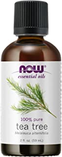 NOW Essential Oils, Tea Tree Oil, Cleansing Aromatherapy Scent, Steam Distilled, 100% Pure, Vegan, Child Resistant Cap, 2-...