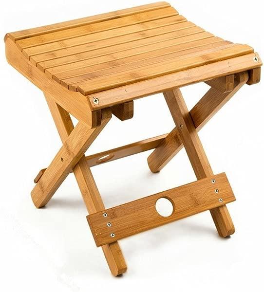 URFORESTIC 100 天然竹折叠凳剃须浴室脚踏月完全 Assembledl