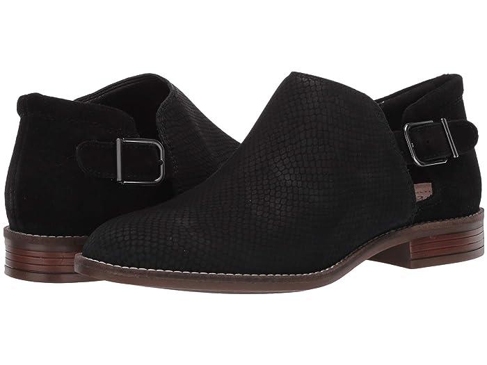 Clarks  Camzin Angie (Black Suede/Nubuck Combi) Womens Shoes